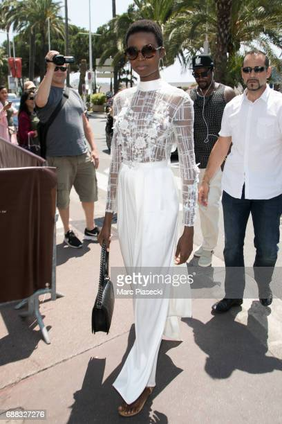Model Maria Borges is spotted during the 70th annual Cannes Film Festival at on May 25 2017 in Cannes France