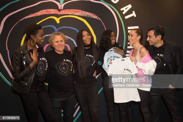 Model Maria Borges Renzo Rosso Supermodel Naomi Campbell actress Karidja Toure Model Ines Rau and Stylist Nicola Formichetti attends Fashion For...