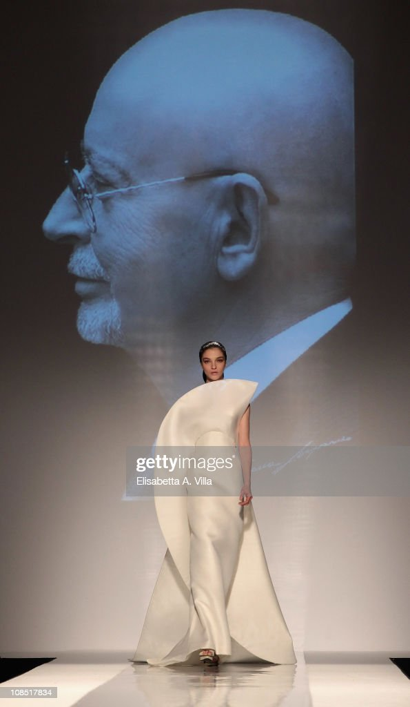 Model Maria Carla Boscono walks the runway during Fausto Sarli fashion show as part of AltaModa AltaRoma Spring/Summer 2011 on January 29, 2011 in Rome, Italy.