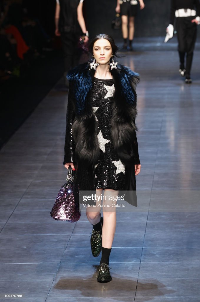 Model Maria Carla Boscono walks the runway during the Dolce & Gabbana show as part of Milan Fashion Week Womenswear Autumn/Winter 2011 on February 27, 2011 in Milan, Italy.