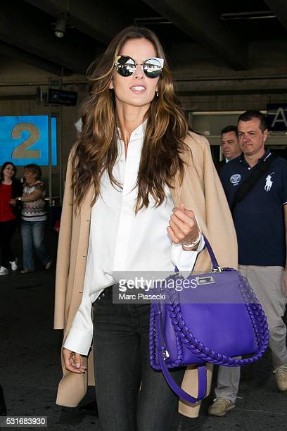 Model Maria Izabel Goulart Dourado arrives at Nice airport during the annual 69th Cannes Film Festival at Nice Airport on May 16 2016 in Nice France