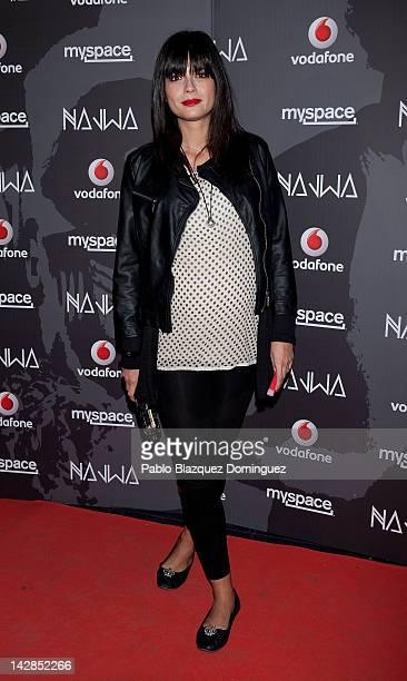 Model Maria Reyes attends album presentation 'Donde lucen los volcanes' during Vodafone Secret Show at Joy Eslava Club on April 13 2012 in Madrid...