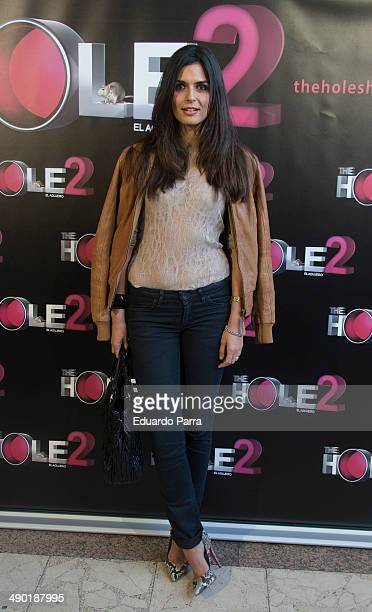 Model Maria Reyes attends 'The Hole 2' closing party photocall at La Latina theatre on May 13 2014 in Madrid Spain