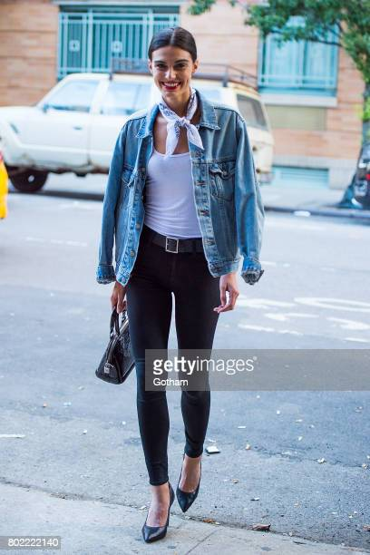 Model Mariah Strongin is seen in the West Village on June 27 2017 in New York City