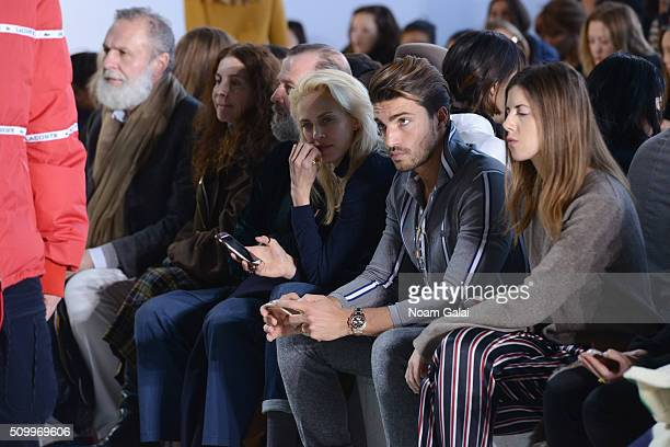 Model Mariano Di Vaio attends the Lacoste Fall 2016 fashion show during New York Fashion Week at Spring Studios on February 13 2016 in New York City