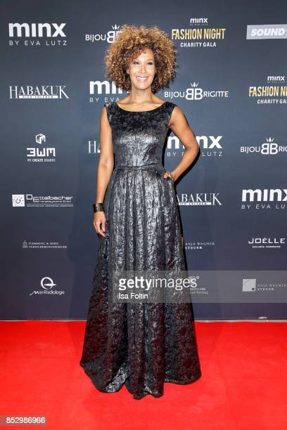 Model Marie Amiere during the Minx Fashion Night in favour of 'Sauti Kuu' of Auma Obama at Wuerzburger Residenz on September 23 2017 in Wuerzburg...