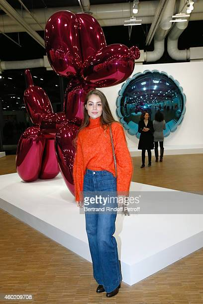 Model MarieAnge Casta attends the Handbag Jeff Koons Presentation during the 'Fashion Loves Art' Cocktail Event hosted by HM on December 9 2014 in...