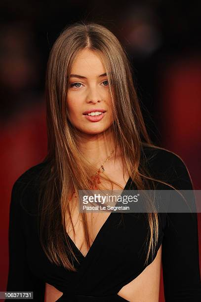 Model MarieAnge Casta attends the 'La dolce vita' world restoration premiere during The 5th International Rome Film Festival at Auditorium Parco...