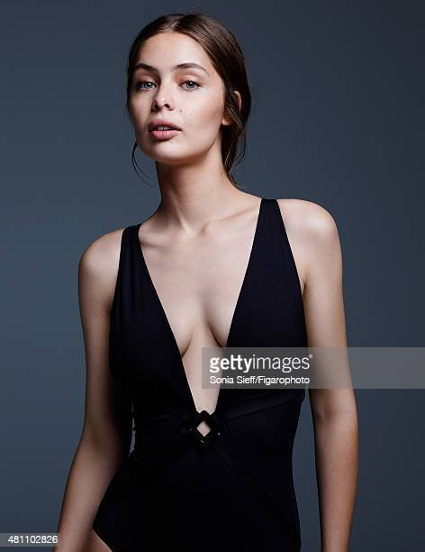 Model MarieAnge Casta is photographed for Madame Figaro on April 13 2015 in Paris France Bathing suit Makeup by Dior PUBLISHED IMAGE CREDIT MUST READ...