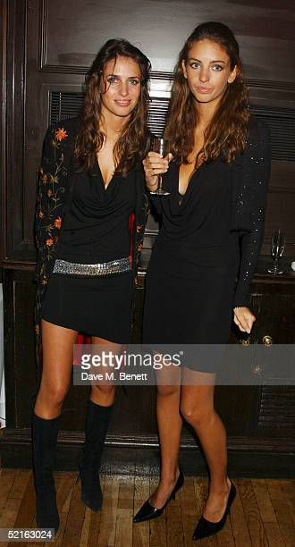 Model Marina Hanbury and sister Rose attend the book launch for historian Andrew Roberts new book 'Waterloo' at the English Speaking union Club in...