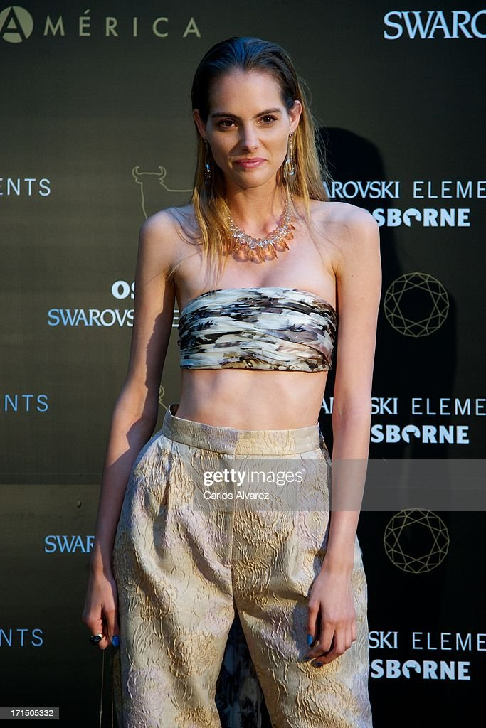 Model Marina Jamieson attends Swarovski-Osborne Bull illumination at the Casa America on June 25, 2013 in Madrid, Spain.
