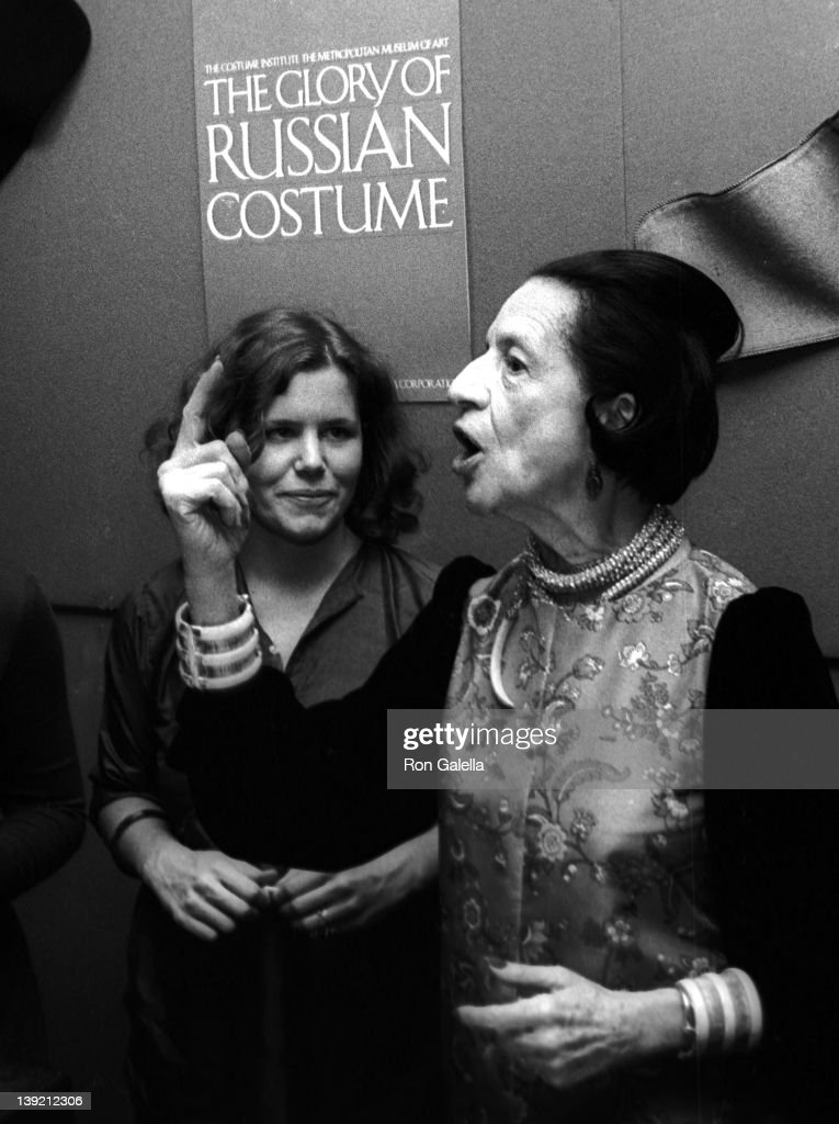 """Vreeland - The Glory of the Russian Costume: As a photojournalist and a paparazzo I seek to capture the gamut of human emotions. Diana Vreeland never disappointed, always expressive, particularly with her hands and face as seen in this photo from 1976. I also like curve of her hand which seems to match the curve of her hair."" - Ron Galella 