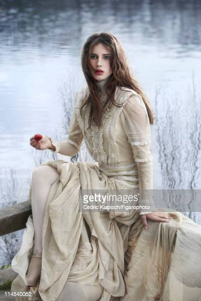 Model Marine Vacth is photographed for Madame Figaro on March 29 2011 in Villed'Avray France Figaro ID 100351058 Dress by Ralph Lauren Collection...