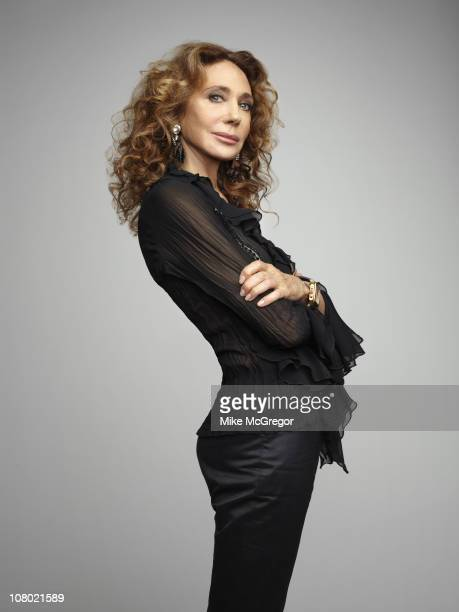 Model Marisa Berenson poses for a portrait session for The Times Magazine on July 19 2010 New York City Published image