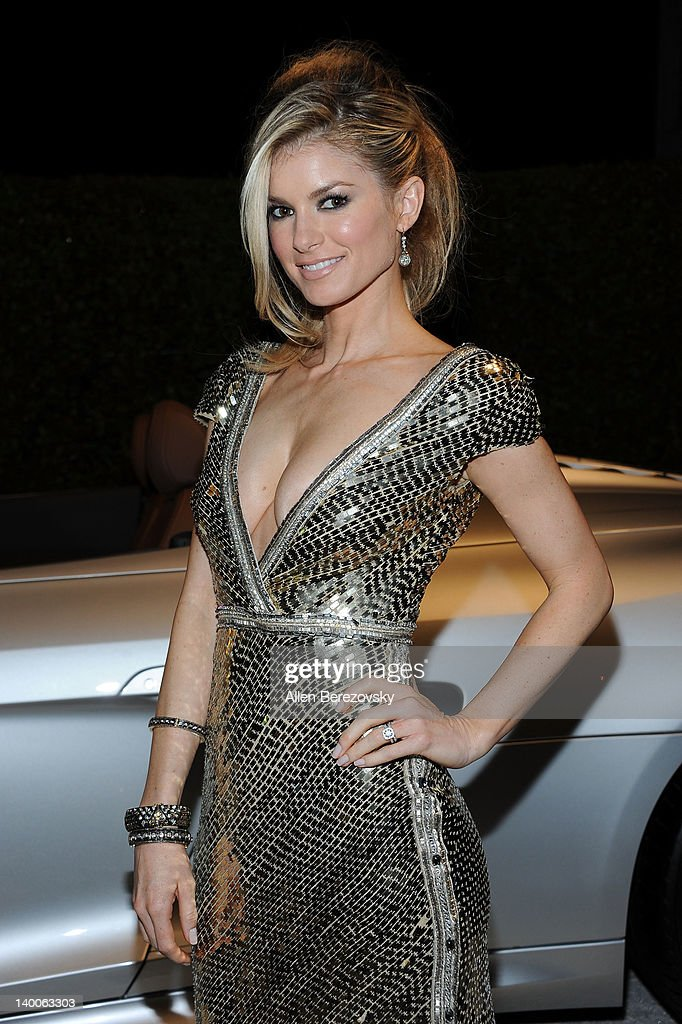 Model Marisa Miller arrives at Audi Arrivals at 20th annual Elton John AIDS Foundation Academy Awards viewing party on February 26, 2012 in Beverly Hills, California.