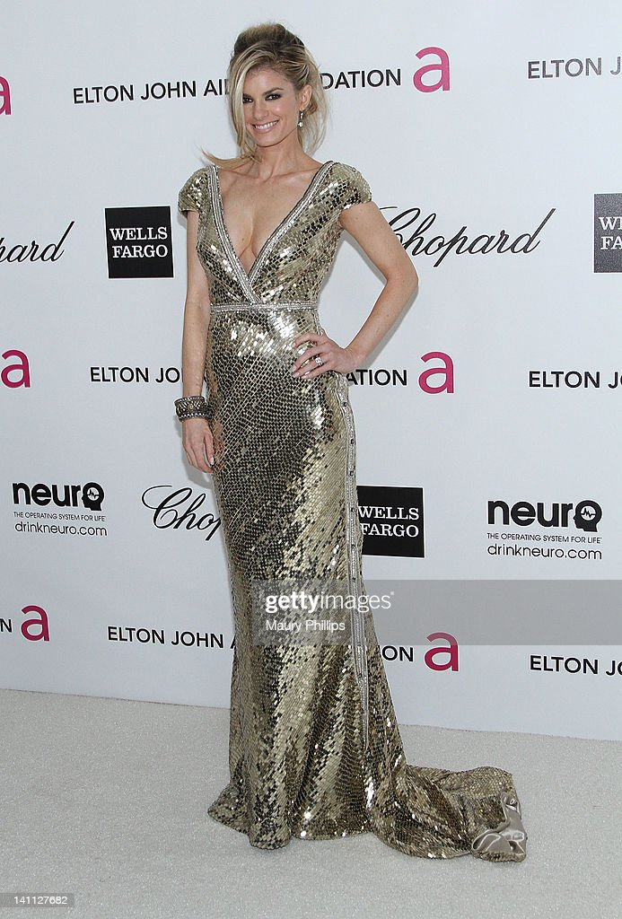 Model Marisa Miller arrives at the 20th Annual Elton John AIDS Foundation Academy Awards Viewing Party at Pacific Design Center on February 26, 2012 in West Hollywood, California.