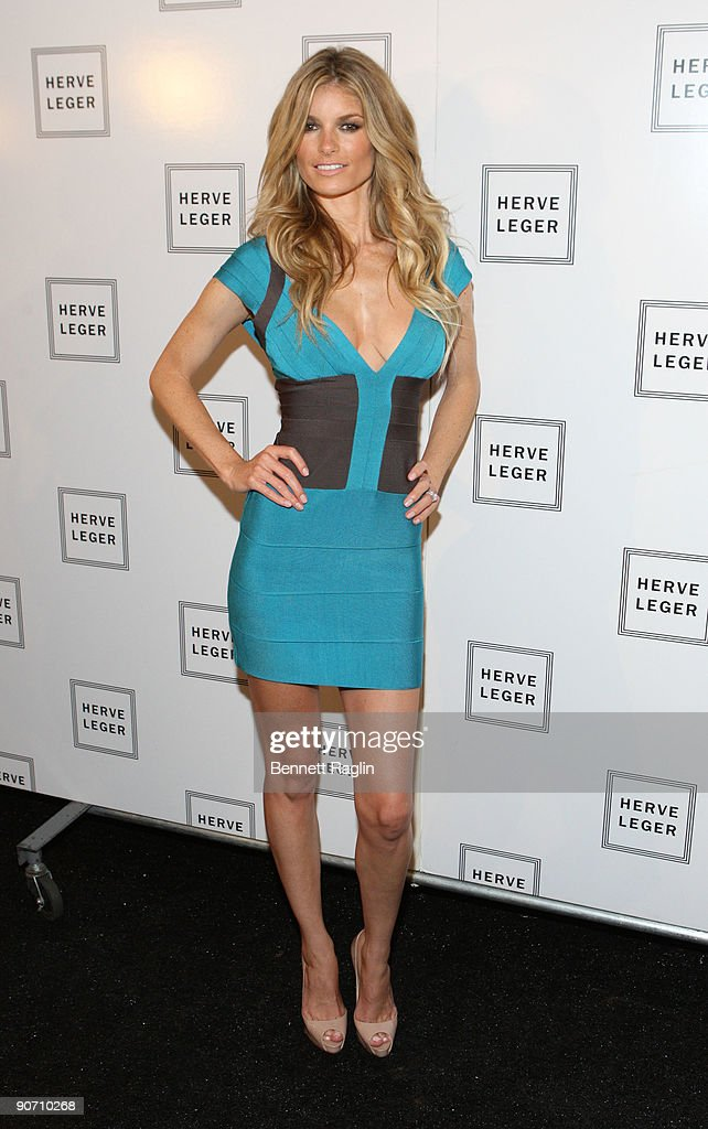 Model Marisa Miller attends Herve Leger By Max Azria Spring 2010 during Mercedes-Benz Fashion Week at Bryant Park on September 13, 2009 in New York City.