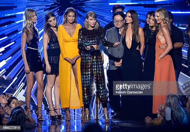 Model Martha Hunt actress Hailee Steinfeld model Gigi Hadid actress Serayah recording artist Taylor Swift director Joseph Kahn model Lily Aldridge...