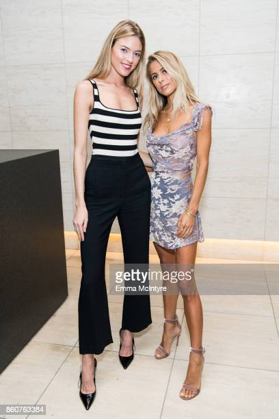Model Martha Hunt and jewelry designer Logan Hollowell attend 'Logan Hollowell | Marvel Thor Ragnarok Collection Dinner at MILK Studios LA' on...