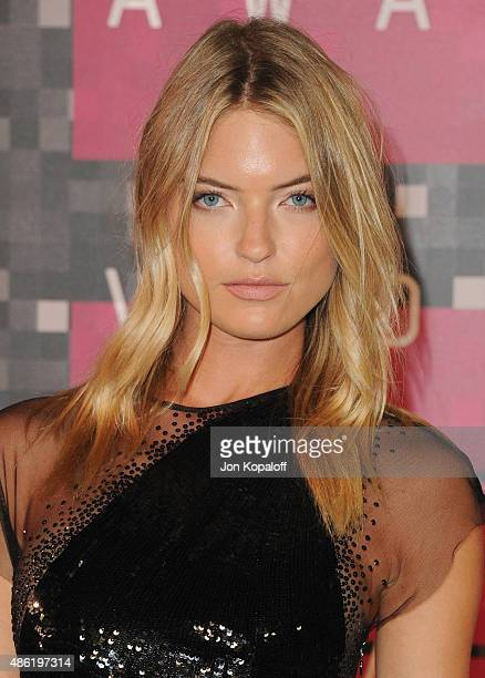 Model Martha Hunt arrives at the 2015 MTV Video Music Awards at Microsoft Theater on August 30 2015 in Los Angeles California