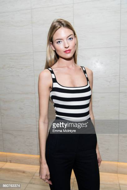 Model Martha Hunt attends Logan Hollowell | Marvel Thor Ragnarok Collection Dinner at MILK Studios LA on October 12 2017 in Los Angeles California