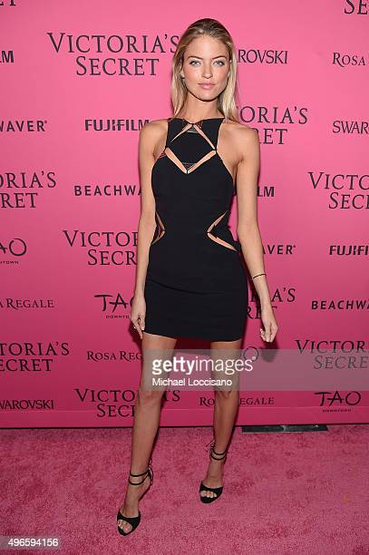 Model Martha Hunt attends the 2015 Victoria's Secret Fashion After Party at TAO Downtown on November 10 2015 in New York City