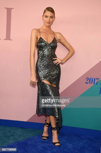 Model Martha Hunt attends the 2017 CFDA Fashion Awards at Hammerstein Ballroom on June 5 2017 in New York City