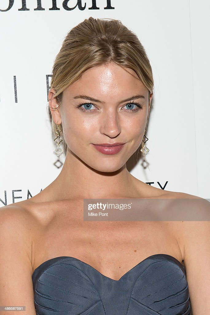 Model Martha Hunt attends The Cinema Society & Bobbi Brown with InStyle screening of 'The Other Woman' at The Paley Center for Media on April 24, 2014 in New York City.