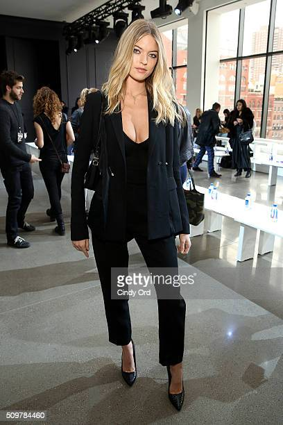 Model Martha Hunt attends the Jason Wu Fall 2016 fashion show during New York Fashion Week at Spring Studios on February 12 2016 in New York City