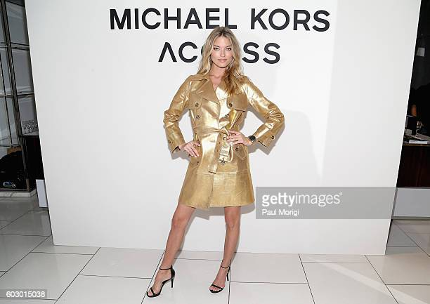 Model Martha Hunt attends the Michael Kors Access Smartwatch launch party at Michael Kors on September 11 2016 in New York City