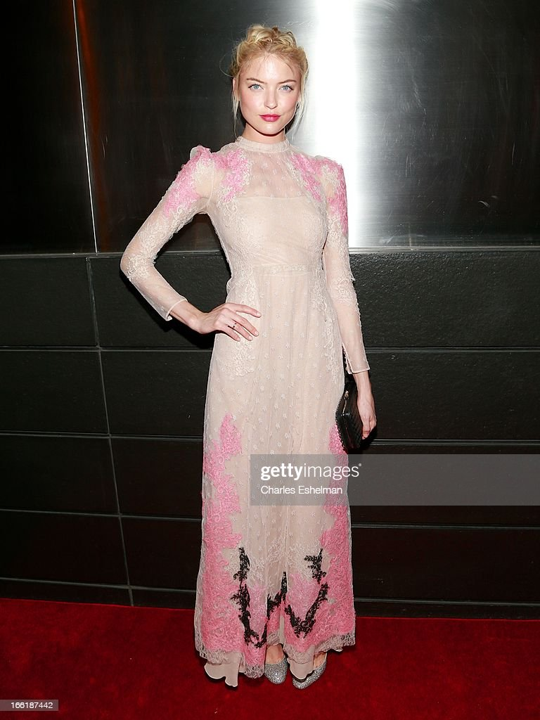 Model Martha Hunt attends the New Yorker's For Children's 10th Anniversary A Fool's Fete Spring Dance at Mandarin Oriental Hotel on April 9, 2013 in New York City.