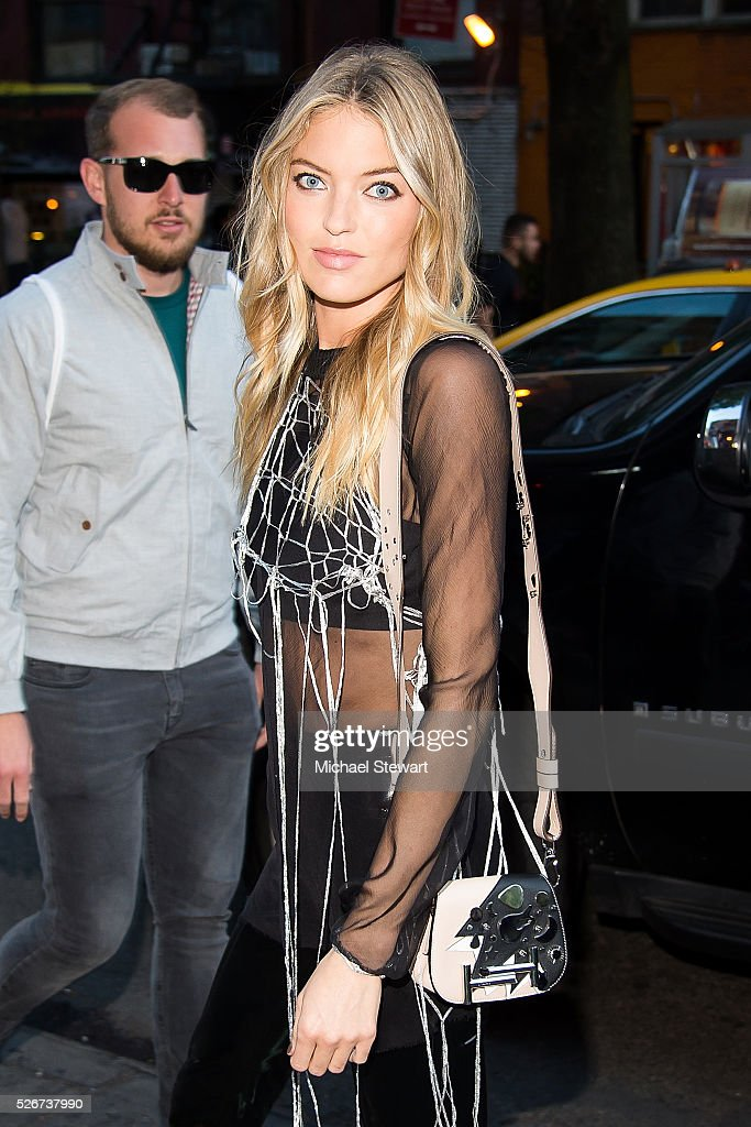 Model Martha Hunt attends the Vogue.com Met Gala cocktail party at Search & Destroy on April 30, 2016 in New York City.