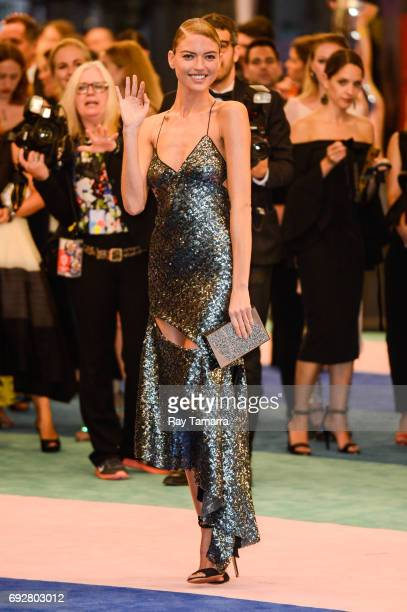 Model Martha Hunt enters the CFDA Fashion Awards at Hammerstein Ballroom on June 5 2017 in New York City