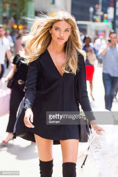 Model Martha Hunt is seen going to fittings for the 2017 Victoria's Secret Fashion Show in Midtown on August 28 2017 in New York City