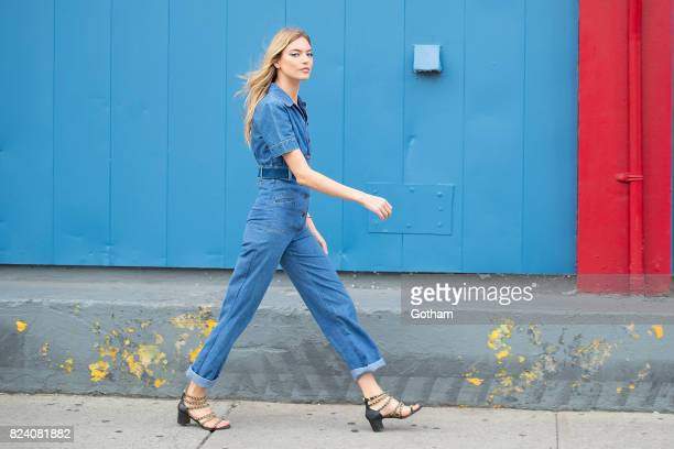 Model Martha Hunt is seen in Chelsea on July 28 2017 in New York City