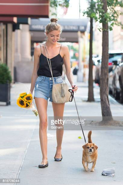Model Martha Hunt is seen in the East Village on July 16 2017 in New York City