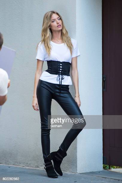 Model Martha Hunt is seen in the West Village on June 27 2017 in New York City