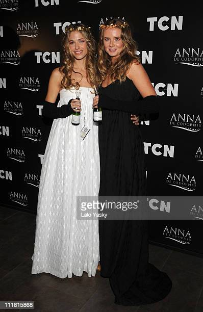 Model Martina Klein and Tennis player Daniela Hantuchova present TCN collection held at Florida Park club on February 10 2008 in Madrid Spain