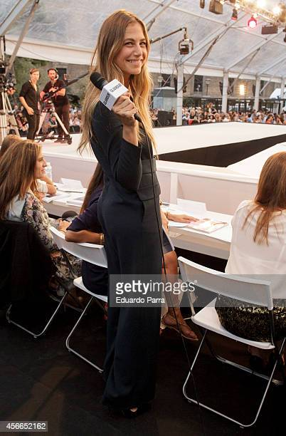 Model Martina Klein attends 'Glamour street fashion show' parade at Colon square on October 4 2014 in Madrid Spain