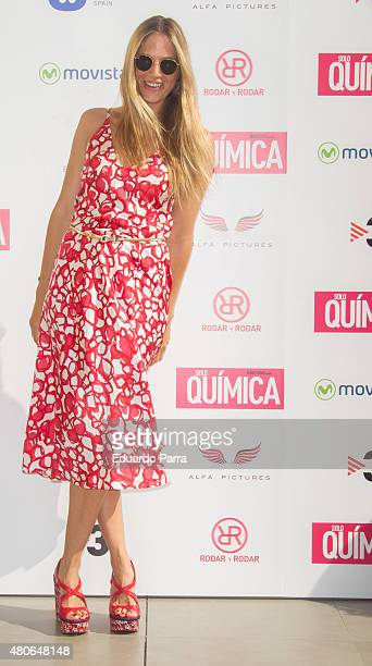 Model Martina Klein attends 'Solo Quimica' photocall at Innside hotel on July 14 2015 in Madrid Spain