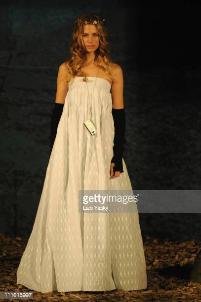 Model Martina Klein presents the TCN collection held at Florida Park club on February 10 2008 in Madrid Spain