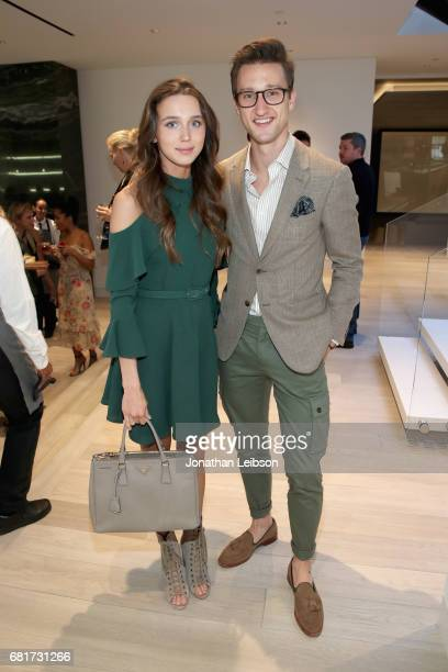 Model Mary Leest and Marcel Floruss attend the private Hennessy XO on Ice dinner hosted by actor Armie Hammer in Beverly Hills CA on May 10 2017 The...