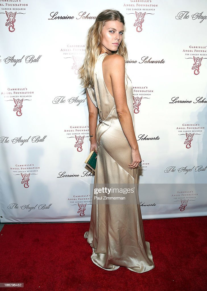 Model <a gi-track='captionPersonalityLinkClicked' href=/galleries/search?phrase=Maryna+Linchuk&family=editorial&specificpeople=4340942 ng-click='$event.stopPropagation()'>Maryna Linchuk</a> attends Angel Ball 2013 at Cipriani Wall Street on October 29, 2013 in New York City.
