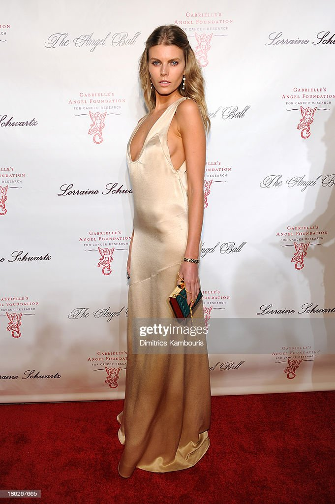 Model <a gi-track='captionPersonalityLinkClicked' href=/galleries/search?phrase=Maryna+Linchuk&family=editorial&specificpeople=4340942 ng-click='$event.stopPropagation()'>Maryna Linchuk</a> attends Gabrielle's Angel Foundation Hosts Angel Ball 2013 at Cipriani Wall Street on October 29, 2013 in New York City.