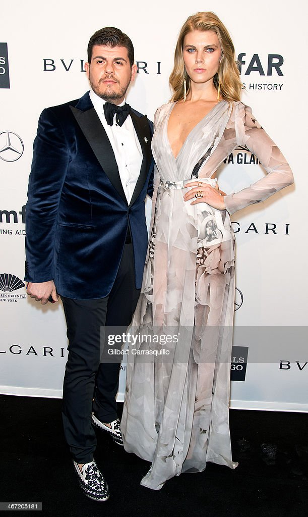 Model Maryna Linchuk attends the 2014 amfAR New York Gala at Cipriani Wall Street on February 5, 2014 in New York City.