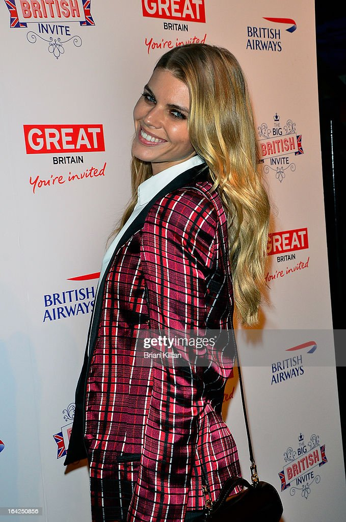 Model Maryna Linchuk attends The Big British Invite launch at 78 Mercer Street on March 21, 2013 in New York City.