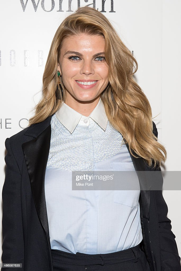 Model Maryna Linchuk attends The Cinema Society & Bobbi Brown with InStyle screening of 'The Other Woman' at The Paley Center for Media on April 24, 2014 in New York City.
