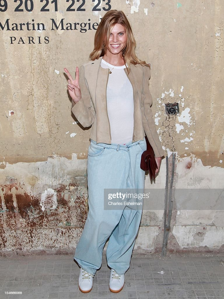 Model Maryna Linchuk attends the Maison Martin Margiela HM Global launch party at 5 Beekman on October 23 2012 in New York City