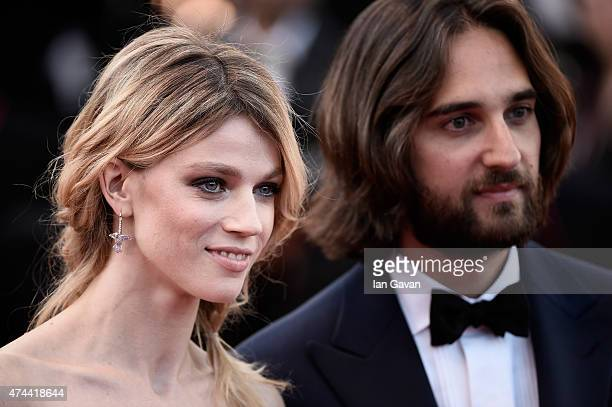 Model Masha Rassam and Producer Dimitri Rassam attend the Premiere of 'The Little Prince' during the 68th annual Cannes Film Festival on May 22 2015...