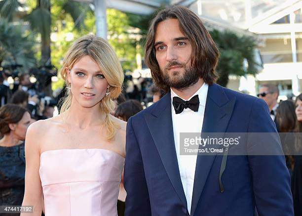 Model Masha Rassam and Producer Dimitri Rassam attends the Premiere of 'The Little Prince' during the 68th annual Cannes Film Festival on May 22 2015...